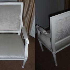 Stoffering retro stoel